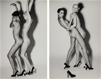 nudes wearing charles jourdan shoes (2 works) by guy bourdin