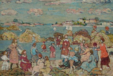 the seashore by maurice brazil prendergast
