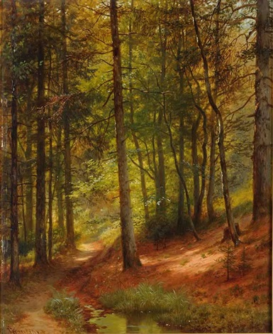 the interior of a forest by johann jan kautsky