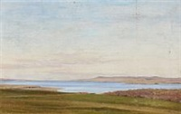 landscape at a fiord by janus andreas barthotin la cour