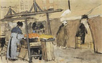 a market scene, the hague by floris arntzenius