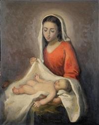 virgen con niño by josé maría labrador arjona