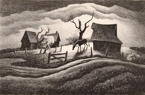 rainy day by thomas hart benton