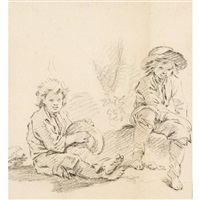two boys resting by françois boucher