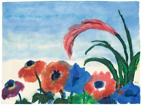ananasblüte und anemonen by emil nolde