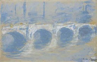 le pont de waterloo, londres by claude monet