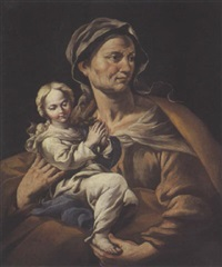 sainte anne et la vierge by angelo solimena the elder