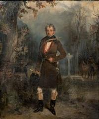 portrait présumé du duc de maillé en grand veneur by françois gabriel guillaume lépaulle