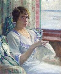 femme à la broderie by frank milton armington