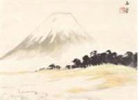 mount fuji in spring by gyokudo kawai