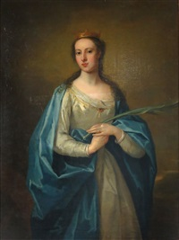 portrait of the honorable mrs. page by william aikman