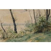 bord du lac de bienne by albert anker
