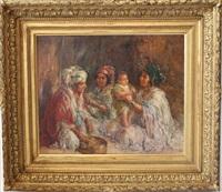 femmes et enfants berbères by edouard verschaffelt