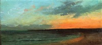 sunset by louis-auguste auguin