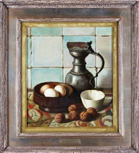 bowl, egg & pewter by henk bos