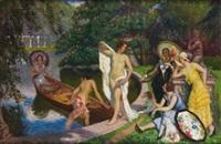 les élégantes au bain by henry bouvet