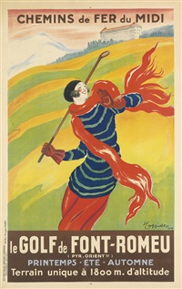 le golf de font - romeu by leonetto cappiello