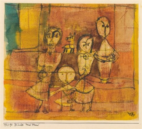kinder und hund children and dog by paul klee