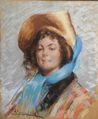 jeune élégante au chapeau by andres gimeno