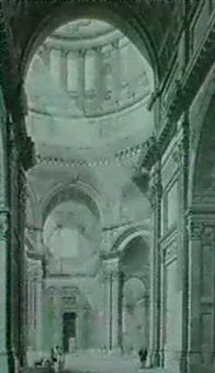 the transept of st paul's cathedral from the north entrance by thomas malton the younger