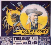 col. w.f. cody. buffalo bill by posters: buffalo bill