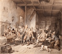 a drunk in a tavern by willem pieter hoevenaar