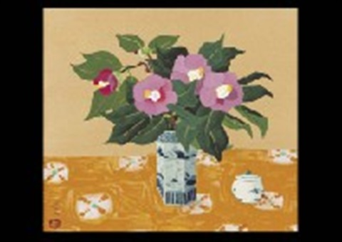 camellias and bouquet 2 works by yuki ogura