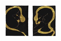untitled (couple) (2 works) by chris ofili