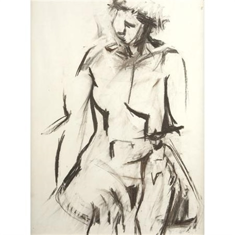 untitled seated figure by jack tworkov
