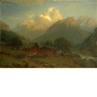 alpine landscape by johann jakob vollweider