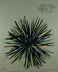 untitled (apply it to the study of mirrors rainbows_ or the sun) by raymond pettibon
