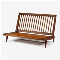 cushion settee by george nakashima
