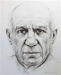 portrait de pablo picasso by franck lesieur