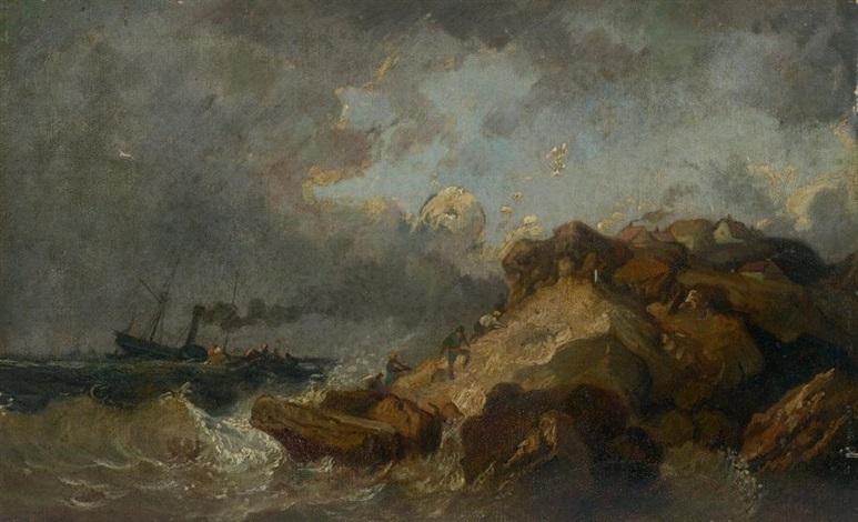 tempête by louis gabriel eugène isabey