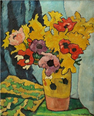 bouquet danémones et jonquilles by louis valtat