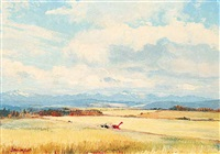 scene in calling valley near priddis alta by duncan mackinnon crockford