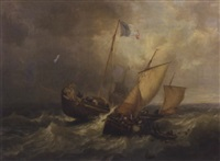 une bataille sur mer by henri le hon