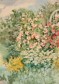colourful flowers in a garden by olga aleksandrovna (princess of storfyrstinde)