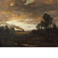 montauk railway, easthampton, long island by arthur turnbull hill