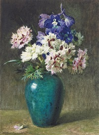 pinks and larkspur by helen cordelia angell