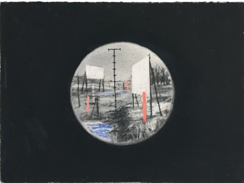 drawing for the film felix in exile by william kentridge
