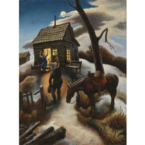 little brown jug by thomas hart benton