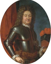 portrait of a military commander in armor by peter tillemans