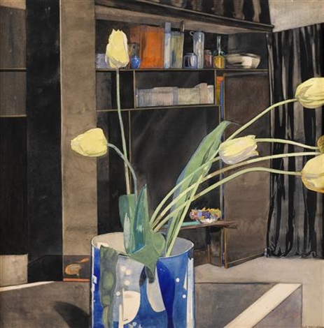 yellow tulips by charles rennie mackintosh