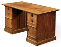 pedestal desk by ernest william gimson