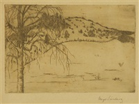 winter landscape by hugo simberg