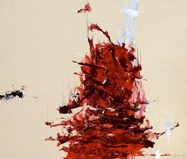 pemandangan merah no. 01 (red landscape no. 01) by christine ay tjoe