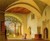 klosterfrau im mittagslicht by simon quaglio