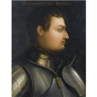 portrait of giovanni de'medici (1498-1526), head and shoulders, wearing armour by cristofano di papi dell' altissimo