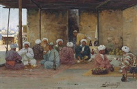 a chaikhana in turkestan by richard karlovich zommer